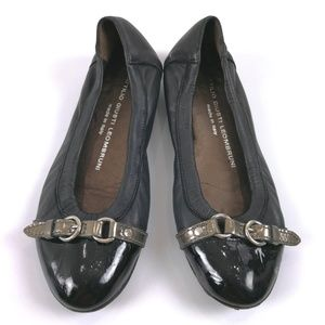 AGL Ballet Flats Black Leather 5US 35EU